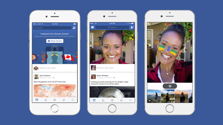 Facebook Testing MSQRD Selfie Lenses within Facebook for Olympics | Social Media Today