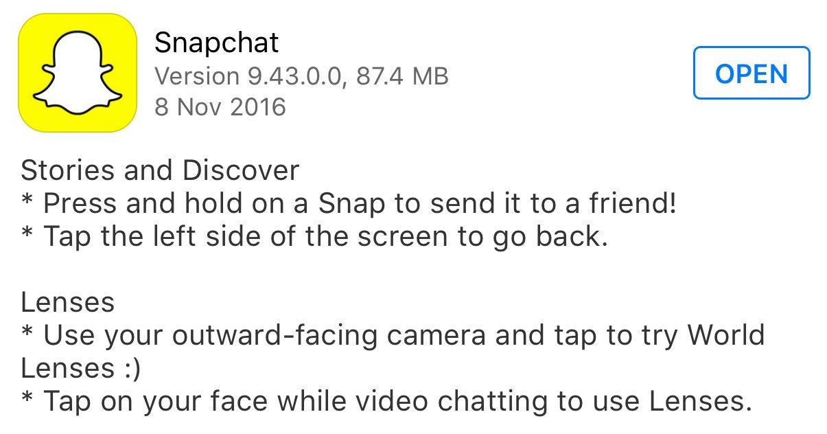 New Snapchat Update Includes Spectacles Integration and 'World Lenses'   Social Media Today