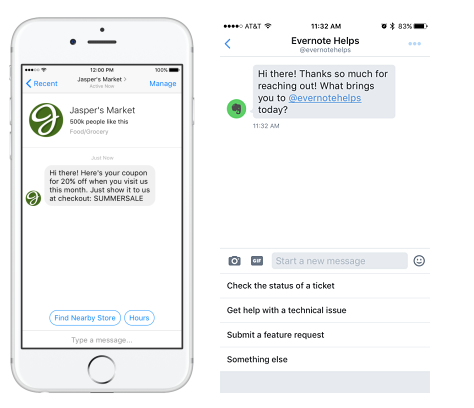 Facebook Announces New Messenger Tools, Bot Options in Messenger Platform 2.1 | Social Media Today