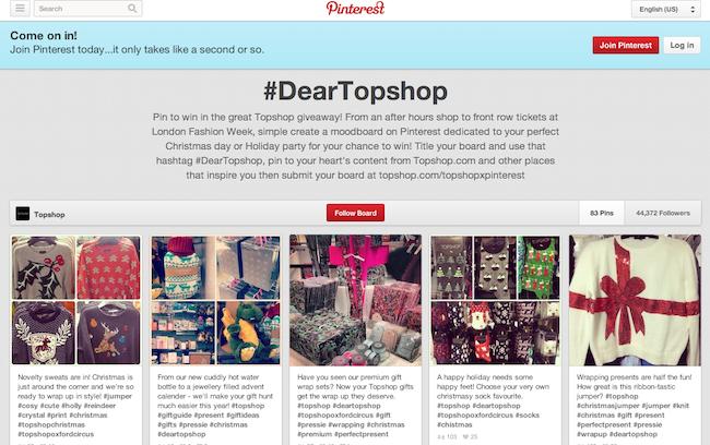 dear topshop campaign
