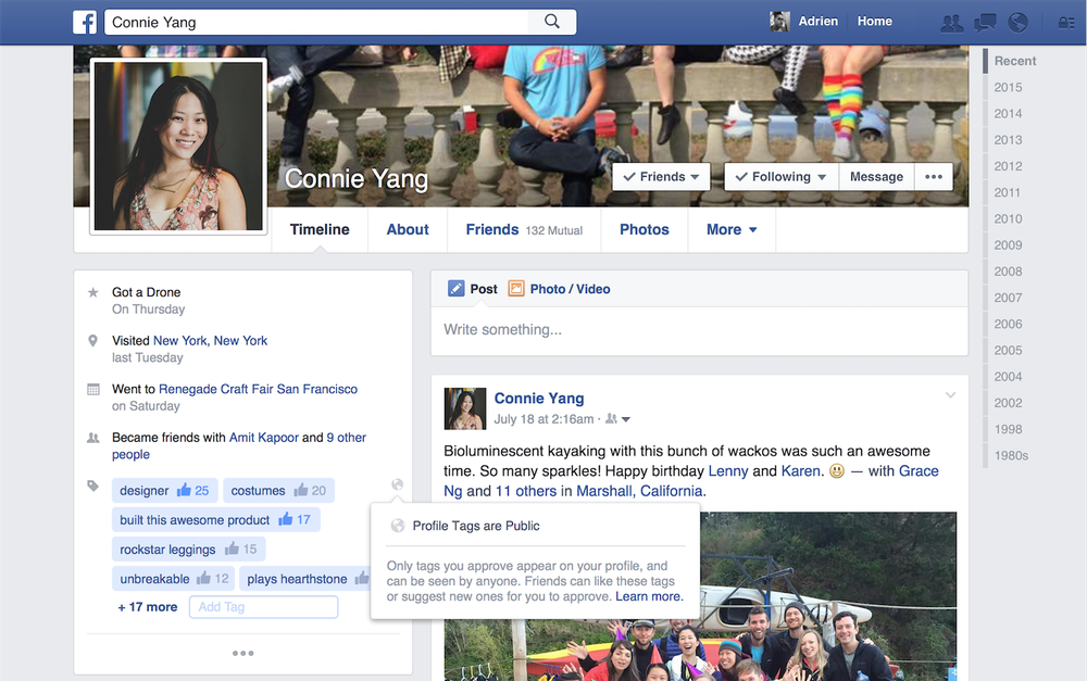 Facebook Looking to Add Tags to Profile Pages | Social Media Today