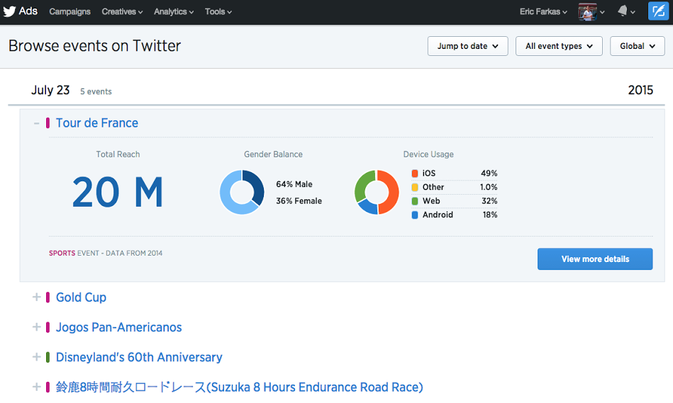 Twitter Makes it Easier for Advertisers to Target Live Event Discussion with New Insights Tools | Social Media Today