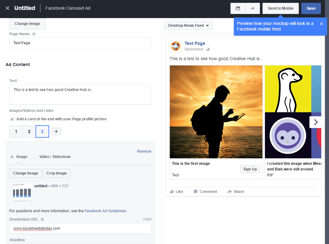 Facebook Opens 'Creative Hub' Ad Testing Platform to All Users | Social Media Today