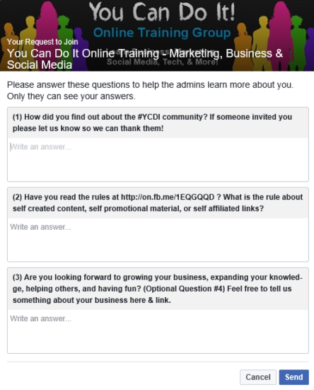 Facebook's Rolling Out Group Membership Questions to Improve Filtering Process | Social Media Today