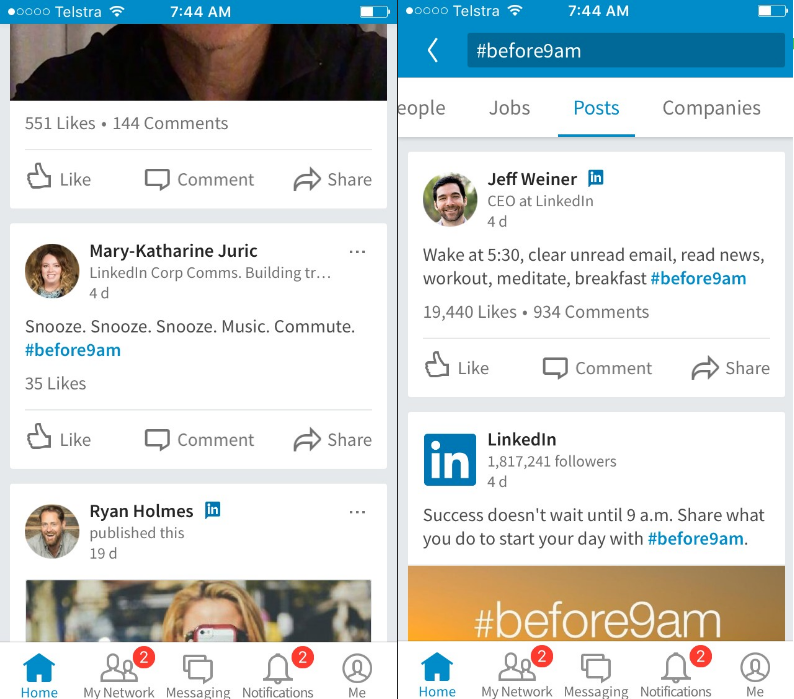 LinkedIn Now Supports Hashtags Again - Sort of | Social Media Today