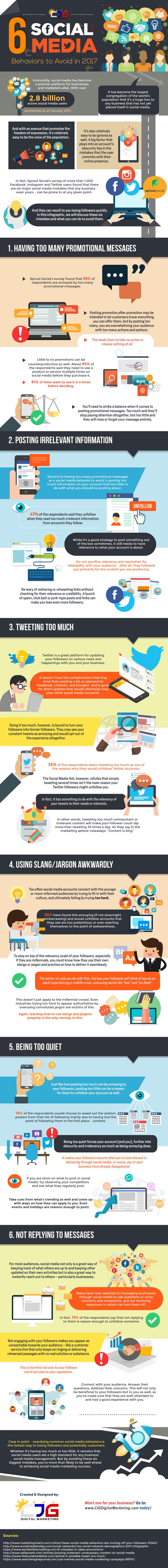 6 Social Media Behaviors to Avoid in 2017 [Infographic] | Social Media Today