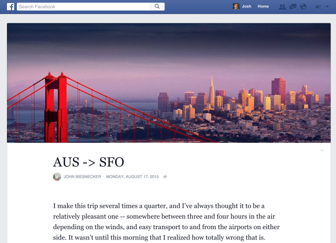 Facebook Looking to Revamp Notes, Become Long-form Blogging Player | Social Media Today