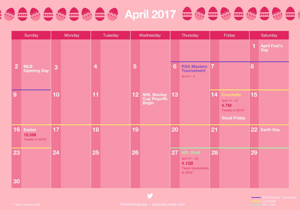 Twitter Releases Major Events Calendar for April to Help Strategic Planning   Social Media Today