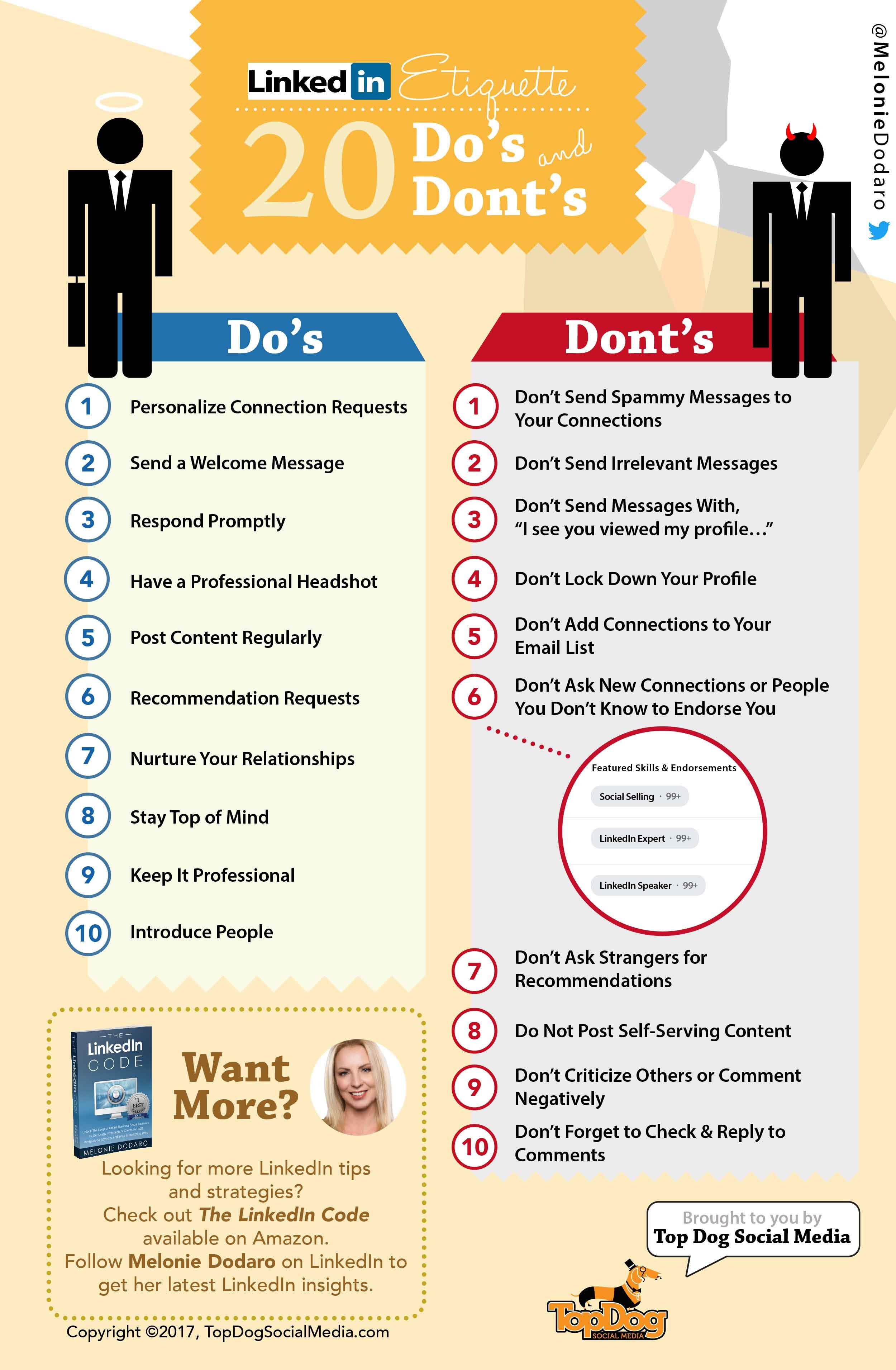 LinkedIn Etiquette Guide 2017: 20 Do's & Don'ts [Inforgraphic] | Social Media Today