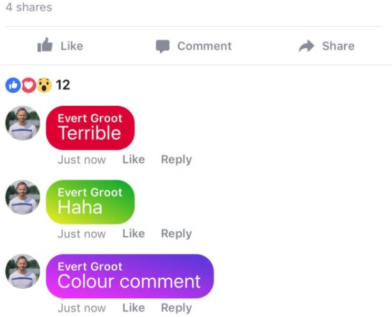 Facebook's Testing Colored Comments to Help Make Your Messages Stand Out | Social Media Today