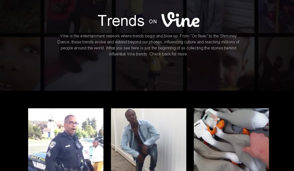 Vine Celebrates Third Year with Top Vines Showcase, New 'Trends on Vine' Feature | Social Media Today