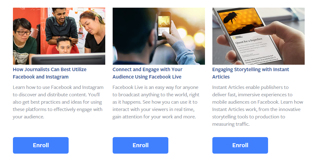 Facebook Releases New Courses to Help Journalists Make Better Use of Their Platforms | Social Media Today