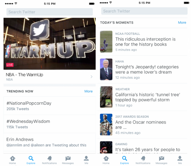 Twitter Announces New 'Explore' Tab to Replace Moments | Social Media Today