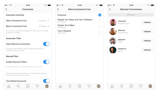 Instagram Adds New Comment Control Options to Help Improve User Safety | Social Media Today