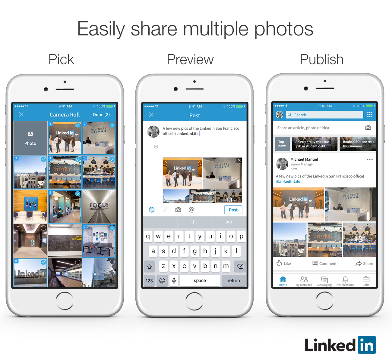 LinkedIn Provides Capacity to Add Multiple Images in a Single Post | Social Media Today