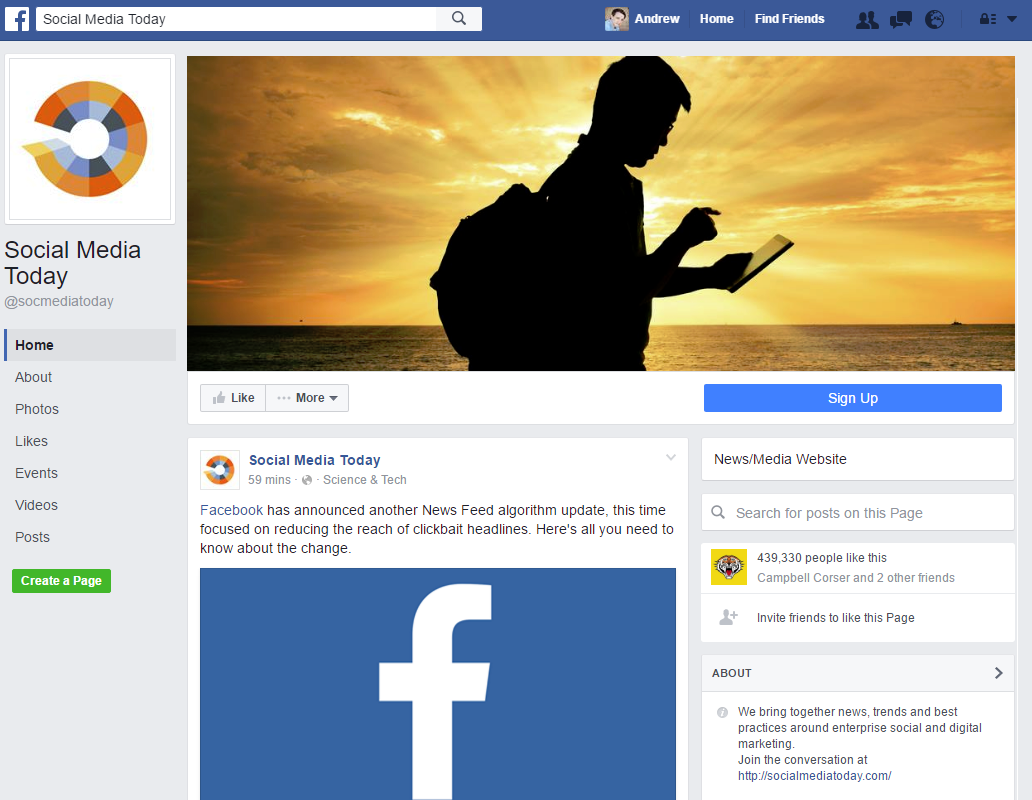 Facebook Confirms New Desktop Page Layout Coming to All Users | Social Media Today