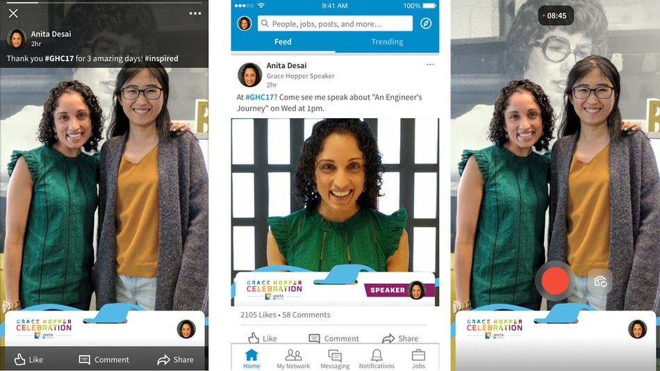 LinkedIn's Adding Snapchat-Like Geofilters for Conferences and Events | Social Media Today
