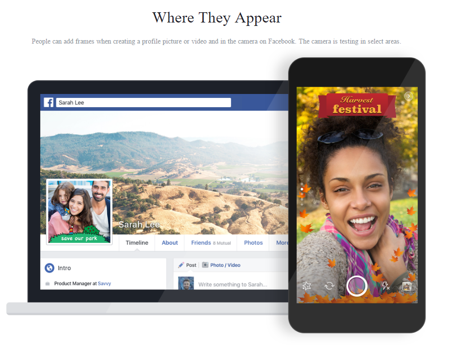 Facebook Testing its Own Version of Snapchat's Custom Geofilters | Social Media Today