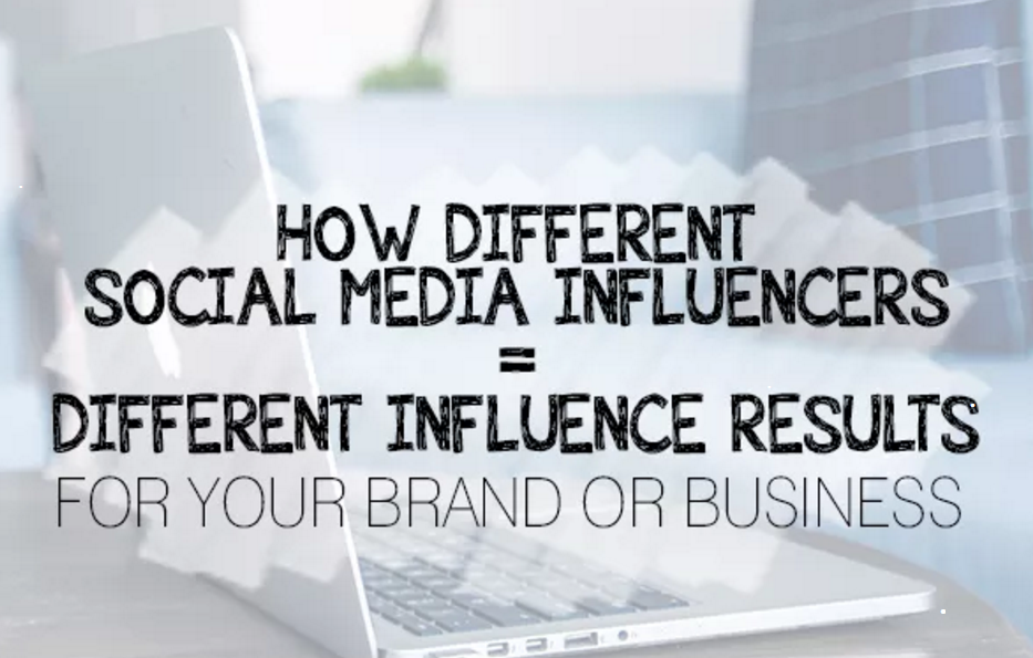 How Different Social Media Influencers Equal Different Influence Results | Social Media Today