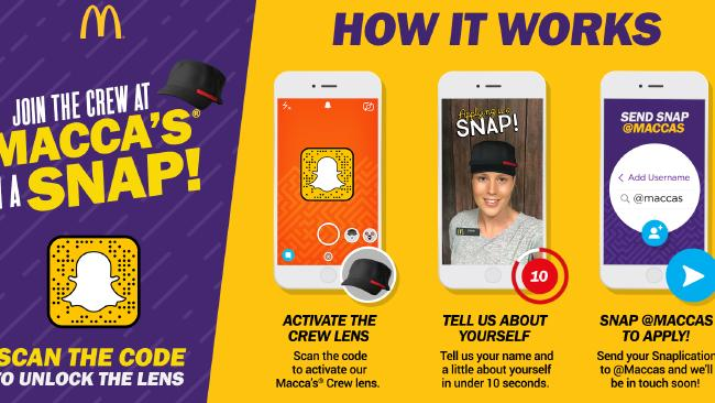 Job Applications via Snapchat? McDonald's Tries Out New Initiative | Social Media Today