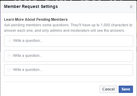 Facebook's Looking to Improve Group Member Moderation with Application Questions | Social Media Today