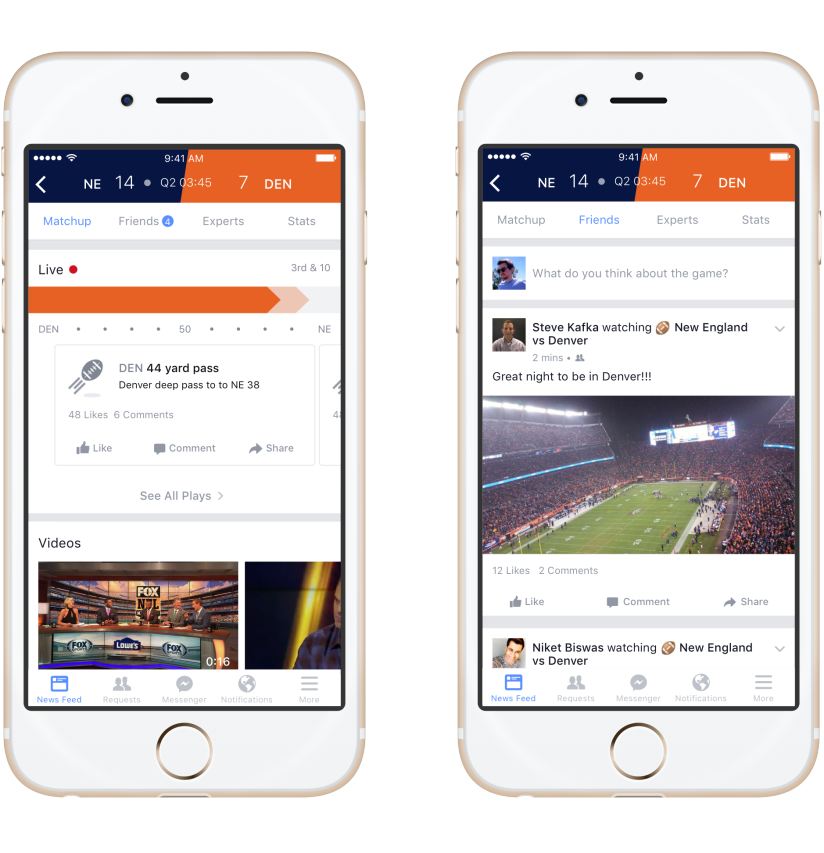 Facebook Continues Push into Real-Time Events with New 'Sports Stadium' Tool | Social Media Today