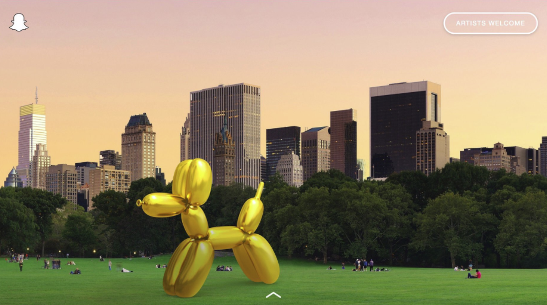 Snapchat's Launching a New AR Art Installation Project   Social Media Today