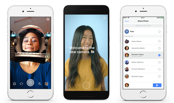 Facebook Unveils New Snapchat-Like Camera Option Within Facebook | Social Media Today