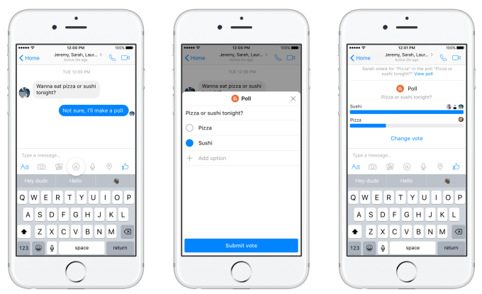 Facebook Adding Polls and Personal Payment Prompts to Messenger | Social Media Today