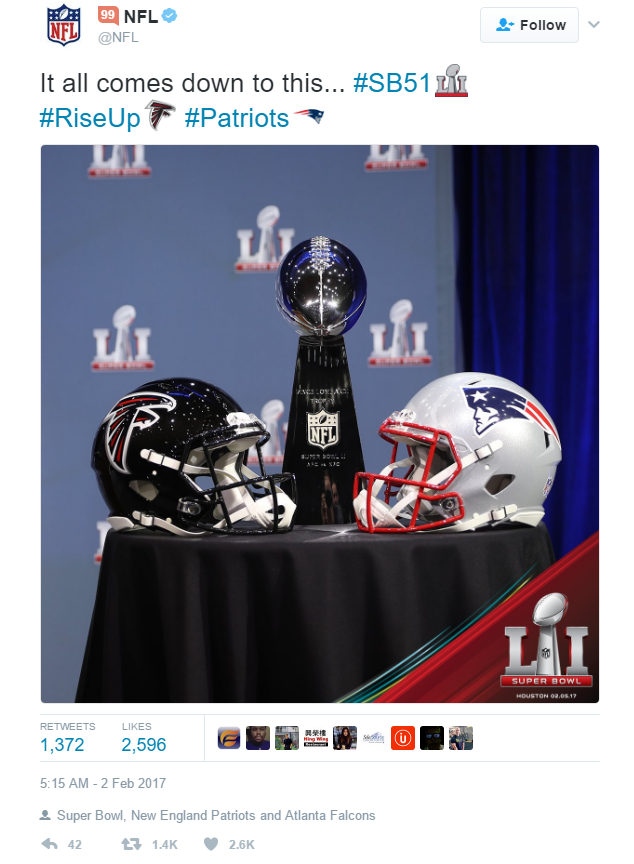 How to Celebrate Super Bowl 51 on Social - a Platform-by-Platform Rundown | Social Media Today