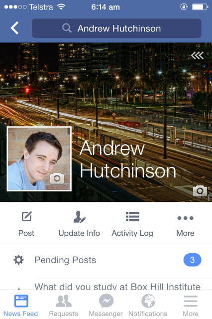 Facebook Testing New Profile Layout for Mobile Users | Social Media Today