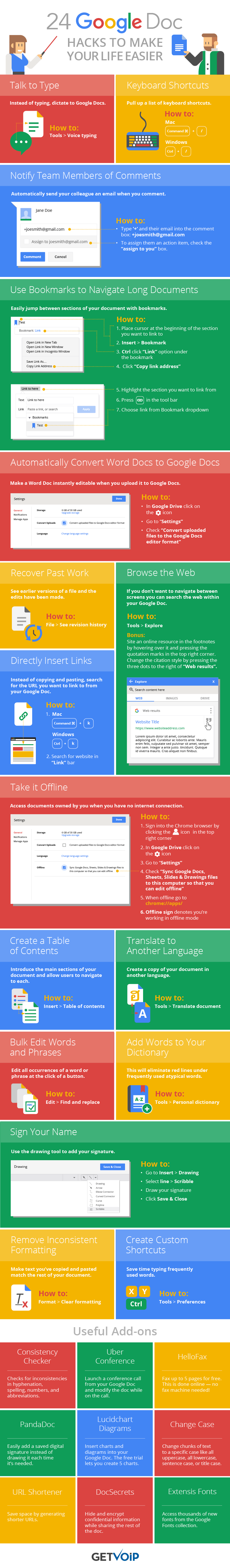 24 Google Doc Hacks to Make Your Life Easier [Infographic] | Social Media Today