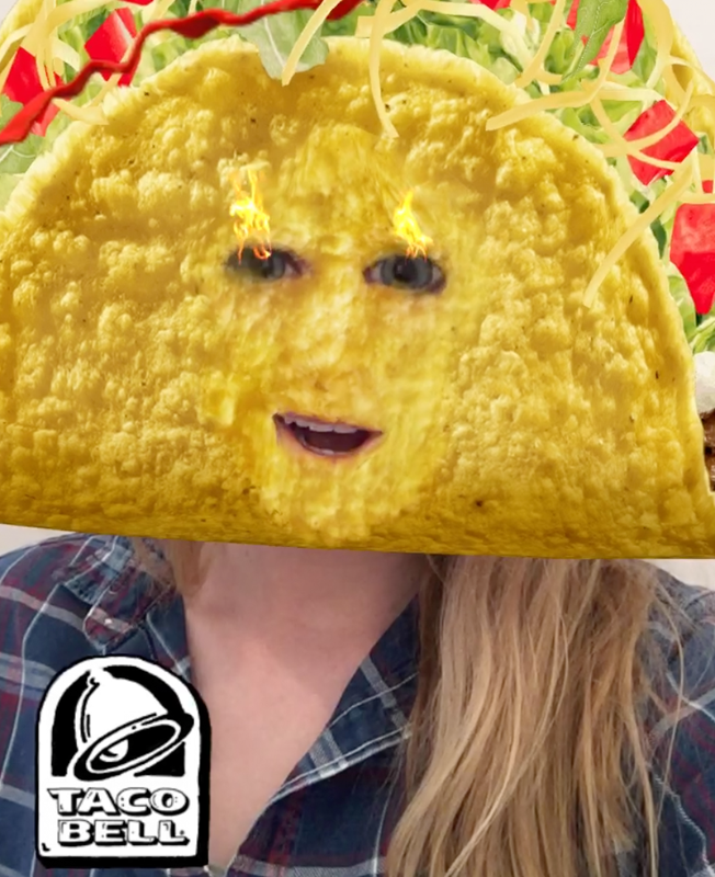 Snapchat Users Loved the Opportunity to Turn Their Heads into Giant Tacos | Social Media Today