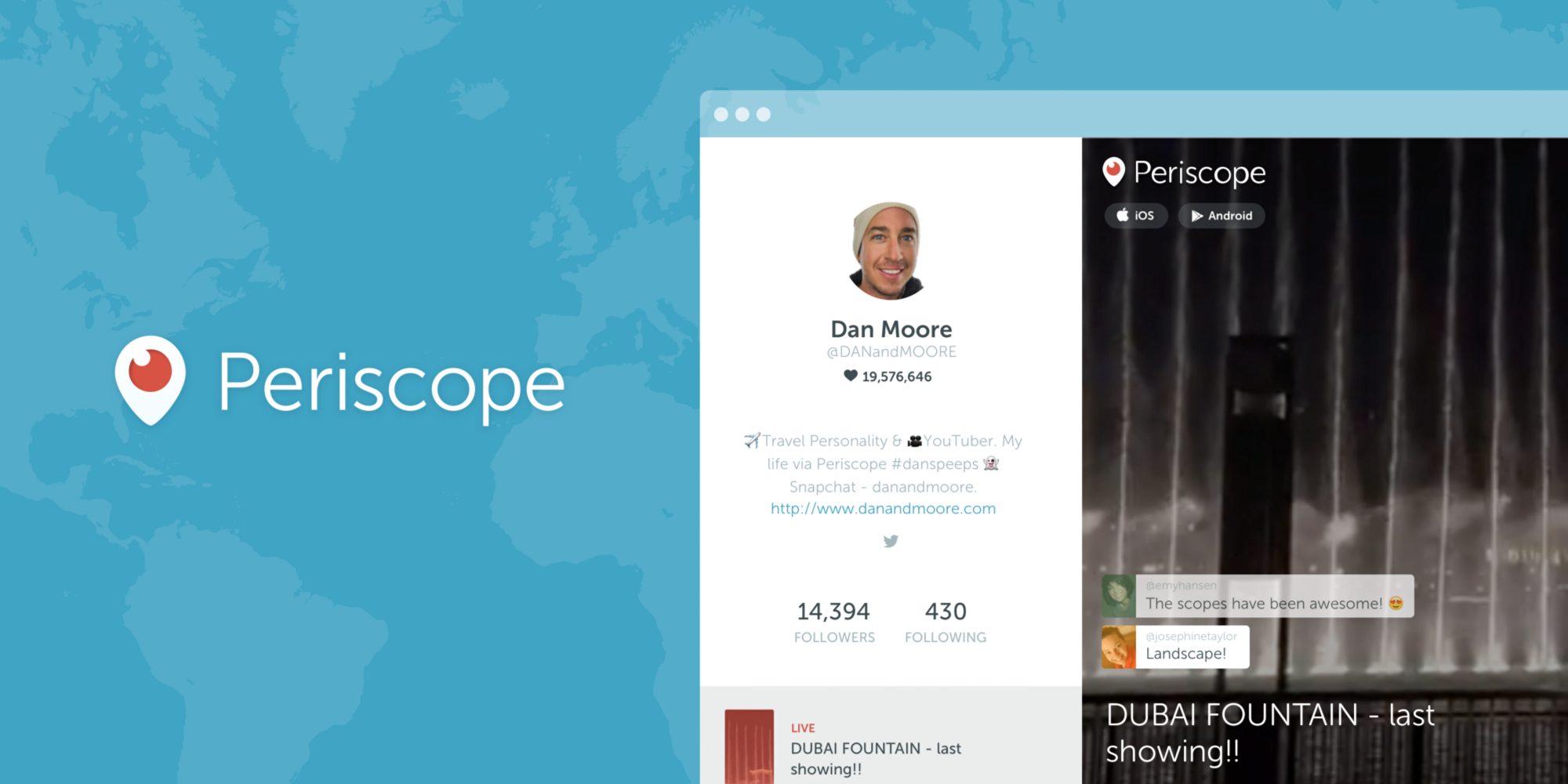 Periscope Launches Web Profiles Making it Easier to Find Content | Social Media Today
