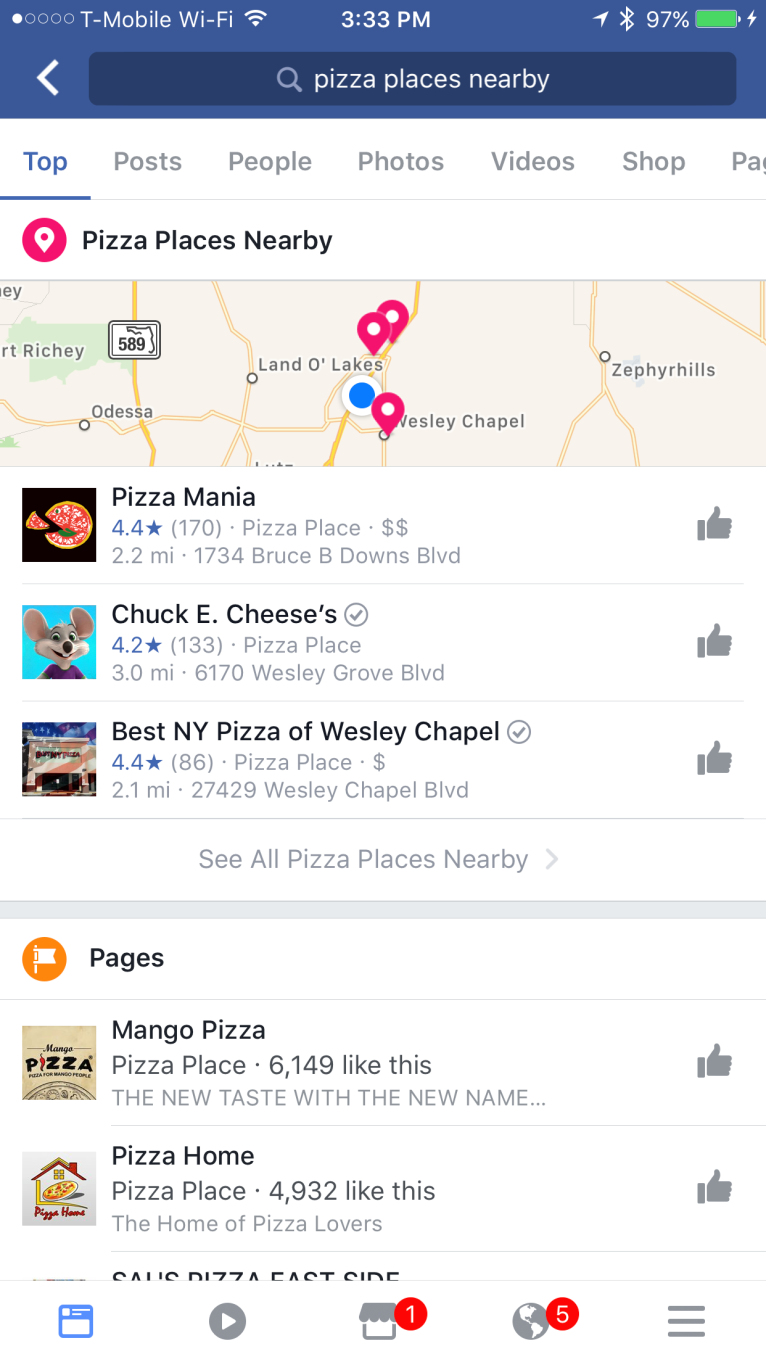 Facebook's Testing Out a New, Advanced Local Search Feature | Social Media Today