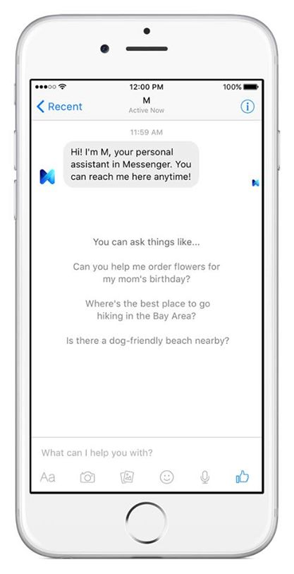 Facebook Launches M Suggestions in Messenger to Provide Quick Connection to Relevant Tools | Social Media Today