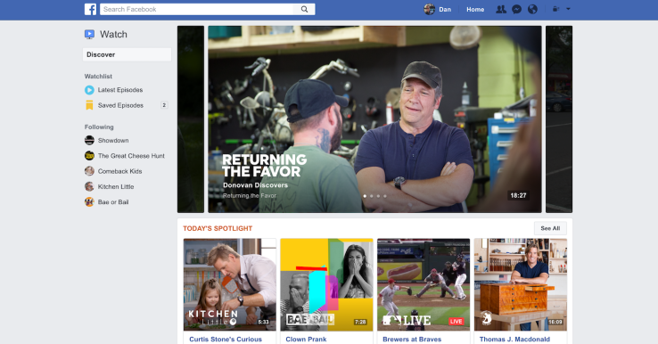 Facebook Announces 'Watch' Their New, Original Video Content Platform | Social Media Today