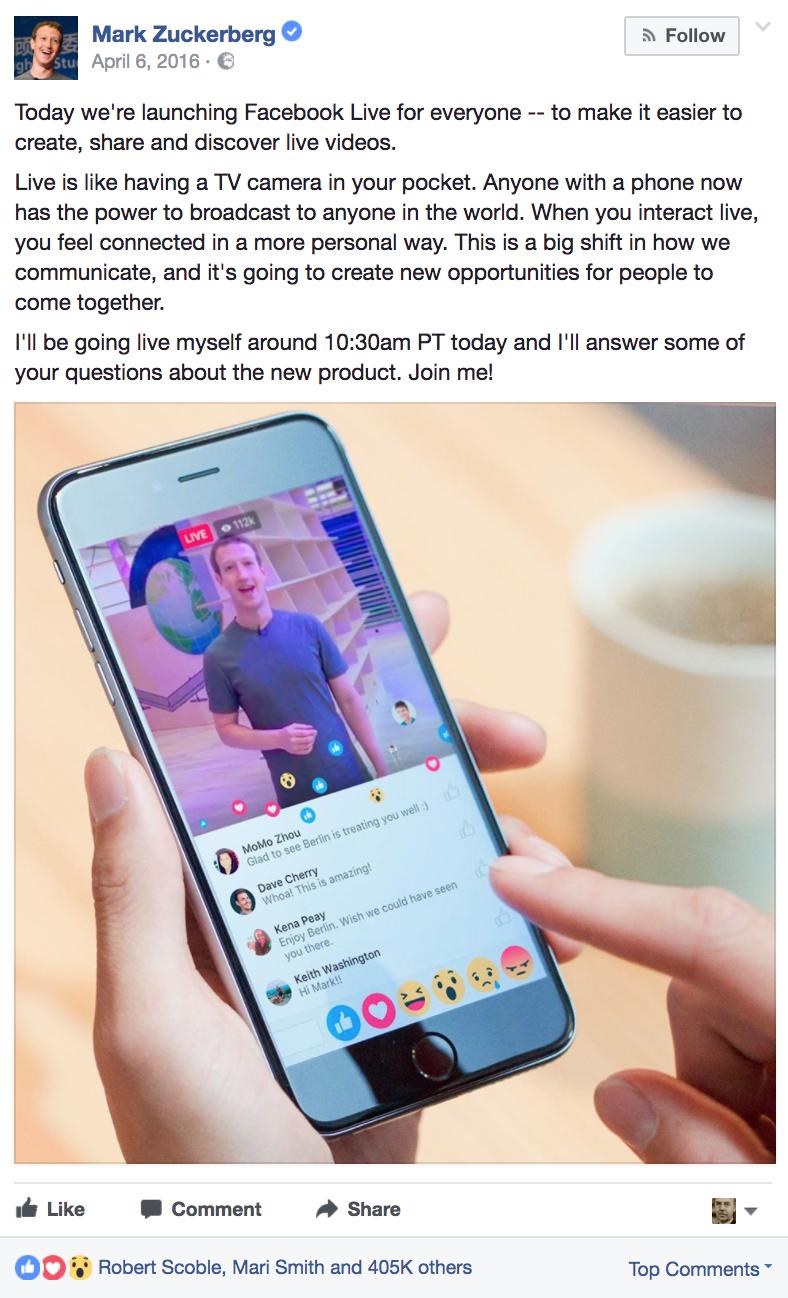 8 Reasons Brands Should Use Facebook Live | Social Media Today