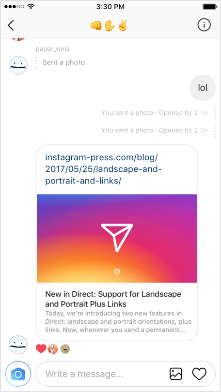 Instagram's Added a New Way to Reply to DMs with Text Overlaid on an Image | Social Media Today