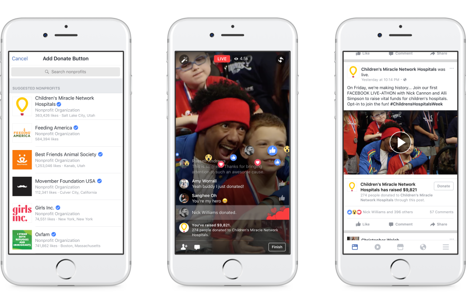 Facebook's Providing a New Personal Fundraising Option and Donate Buttons in Facebook Live | Social Media Today