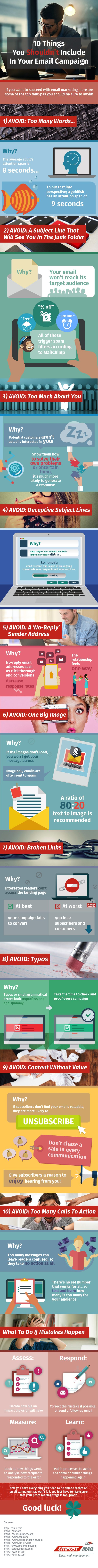 10 Things You Shouldn't Include in Your Email Marketing Campaigns [Infographic] | Social Media Today