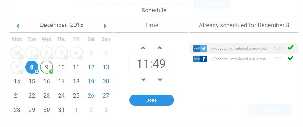 schedule social meida
