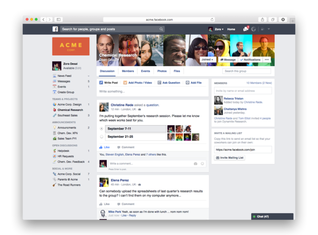Facebook at Work is Coming - New Images Show How it Will Work