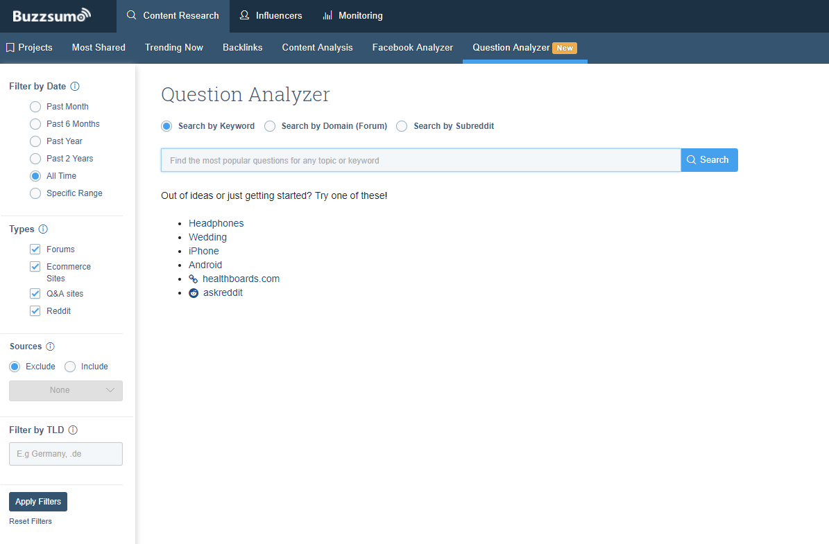 BuzzSumo Adds 'Question Analyzer' to Help Provide New Content Ideas | Social Media Today