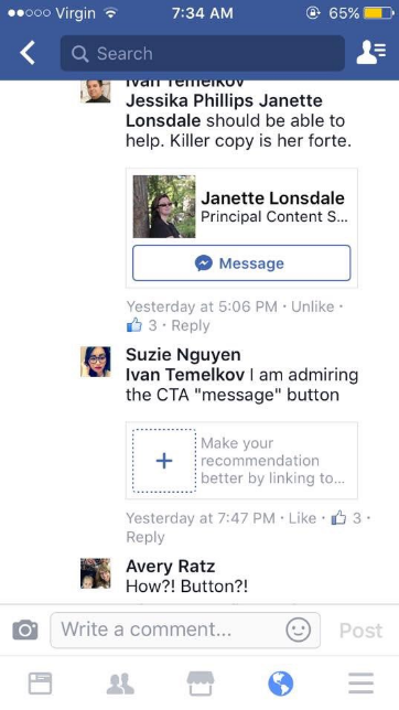 Facebook's Testing Direct Message Prompts in Recommendations | Social Media Today