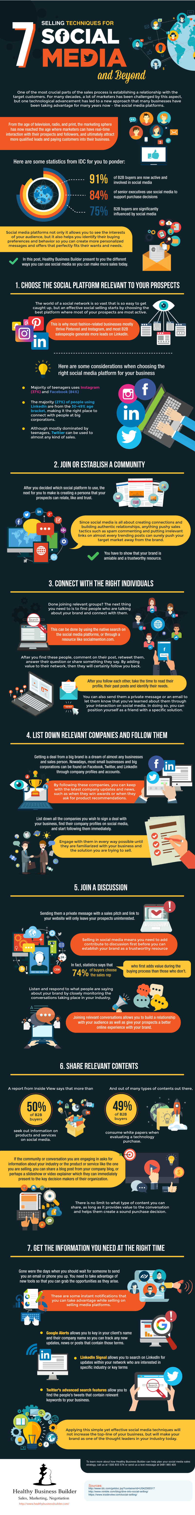 7 Selling Techniques for Social Media [Infographic] | Social Media Today