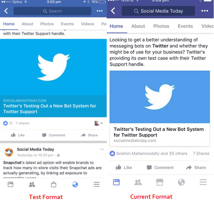 Facebook Testing Color Co-Ordinated Link Previews to Make Articles Stand Out | Social Media Today