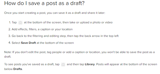 Instagram Opens Save Draft Feature to All Users | Social Media Today