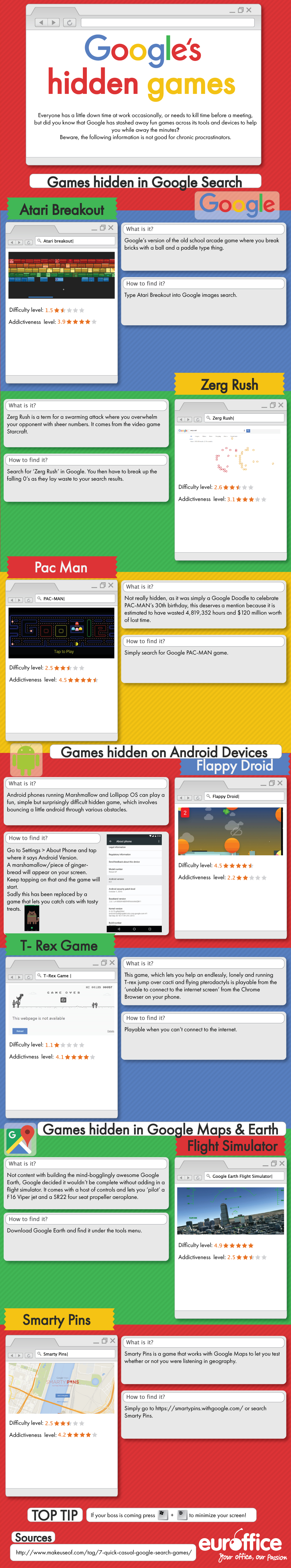 Google's Hidden Games [Infographic] | Social Media Today