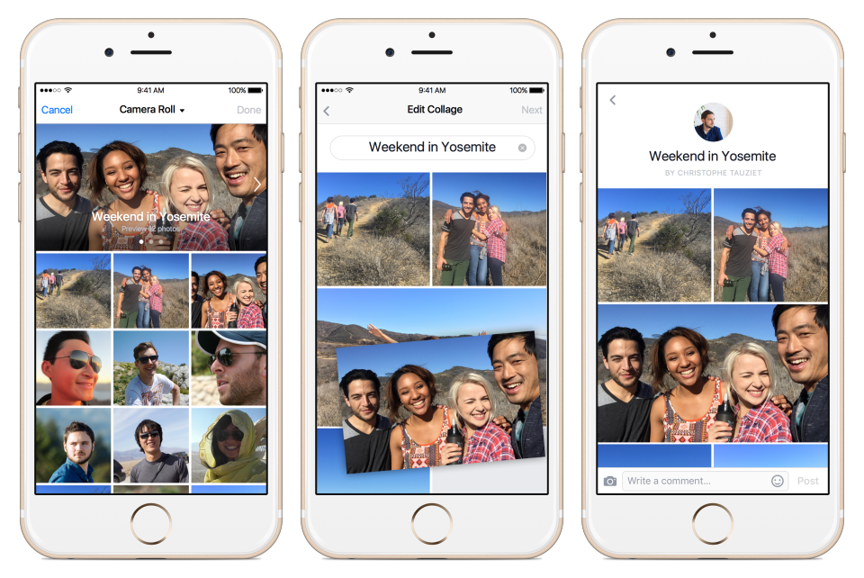 Facebook Announces Expansion of Live-Streaming to All Users, Adds Photo/Video Collage Tool | Social Media Today